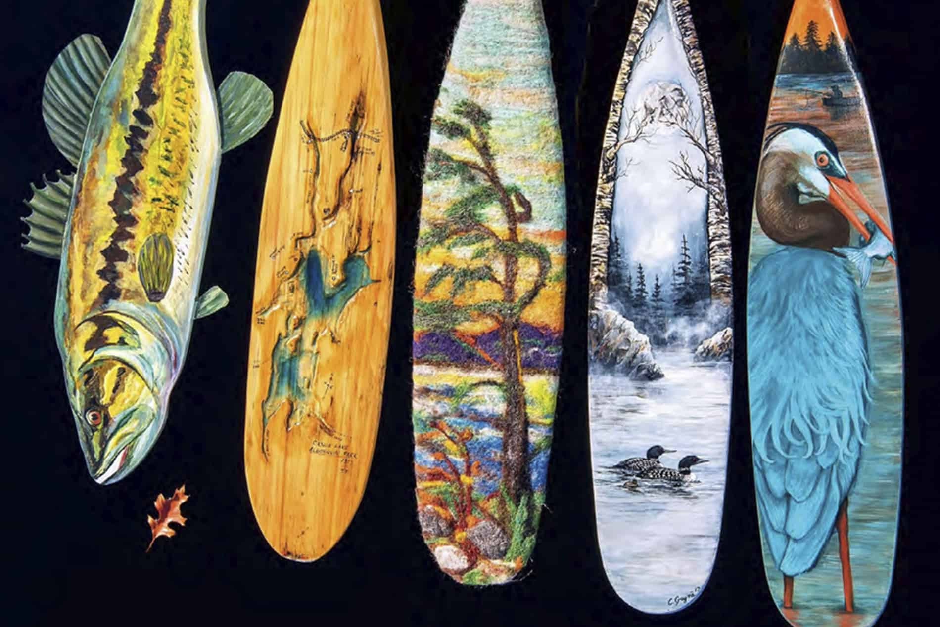 How 5 Artists Reimagined Canoe Paddles