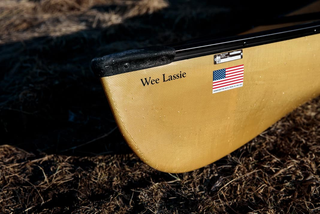 the bow of the canoe wee lassie