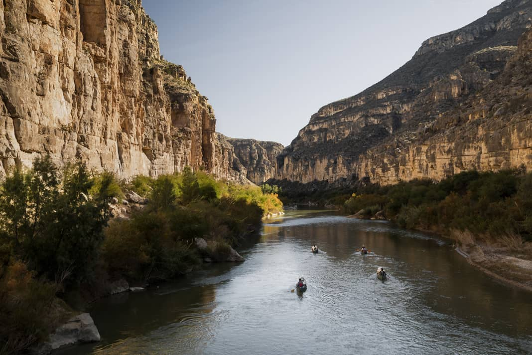 The natural canyon walls of the Rio Grande were formed by tectonics and erosion, free of charge.   Photo: Courtesy The River and The Wall